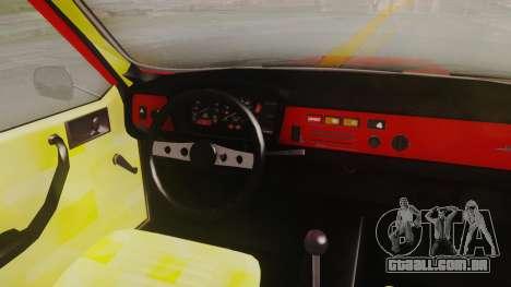 Renault 12 Toros v2 para GTA San Andreas vista traseira