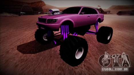 GTA 4 Washington Monster Truck para GTA San Andreas vista direita