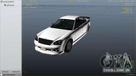 GTA 5 GTA 4 Schafter vista lateral direita