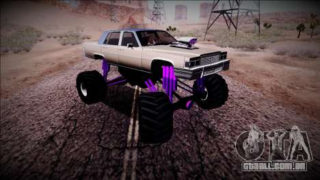 GTA 4 Emperor Monster Truck para GTA San Andreas vista interior