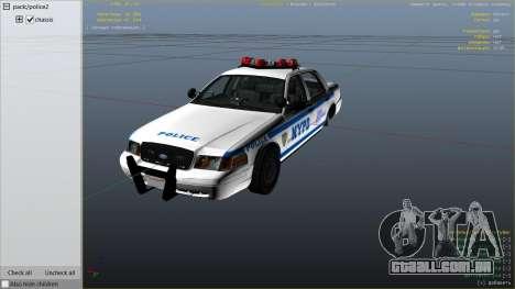 GTA 5 NYPD Ford CVPI HD vista lateral direita