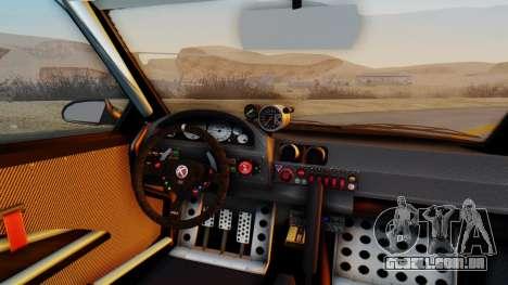 GTA 5 Karin Sultan RS Carbon IVF para GTA San Andreas vista traseira