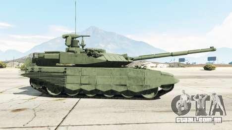 GTA 5 T-90MS traseira vista lateral esquerda
