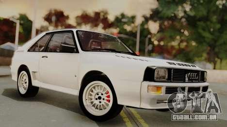 Audi Quattro Coupe 1983 para GTA San Andreas vista superior