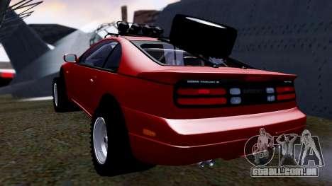Nissan 300ZX Rusty Rebel para GTA San Andreas traseira esquerda vista