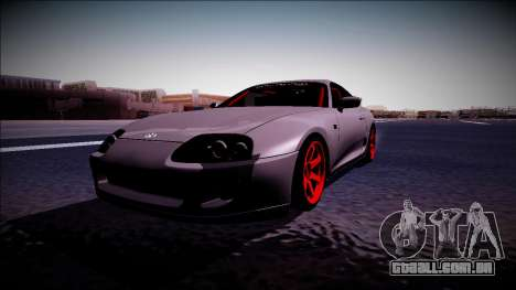 Toyota Supra Drift Monster Energy para GTA San Andreas vista direita