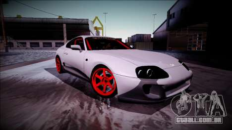 Toyota Supra Drift Monster Energy para GTA San Andreas vista traseira