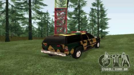 Chevrolet Exterior Camuflagem para GTA San Andreas esquerda vista