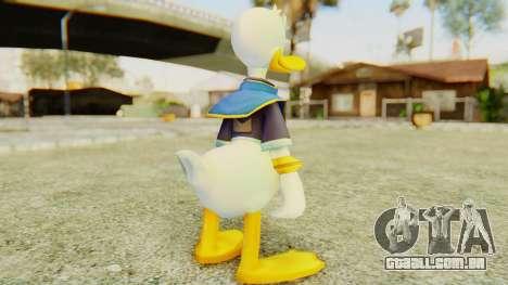 Kingdom Hearts 2 Donald Duck Default v2 para GTA San Andreas terceira tela