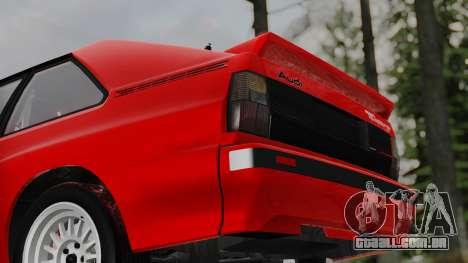 Audi Quattro Coupe 1983 para vista lateral GTA San Andreas