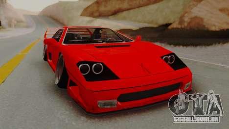 Turismo Saber X para GTA San Andreas traseira esquerda vista