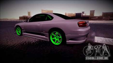 Nissan Silvia S15 Drift Monster Energy para GTA San Andreas traseira esquerda vista