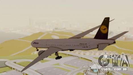 Boeing 777-9x Deutsche Lufthansa para GTA San Andreas vista direita