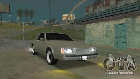 Willard Majestic para GTA San Andreas vista traseira