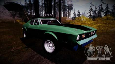 1971 Ford Mustang Rusty Rebel para GTA San Andreas vista direita