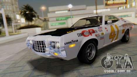 Ford Gran Torino Sport SportsRoof (63R) 1972 IVF para GTA San Andreas vista interior