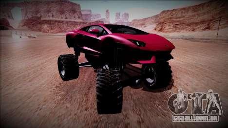 Lamborghini Aventador Monster Truck para GTA San Andreas vista traseira