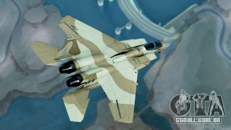 McDonnell Douglas F-15E Aggressor Desert para GTA San Andreas esquerda vista