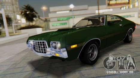 Ford Gran Torino Sport SportsRoof (63R) 1972 IVF para GTA San Andreas vista inferior
