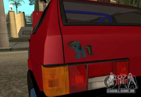 VAZ 2108 para vista lateral GTA San Andreas