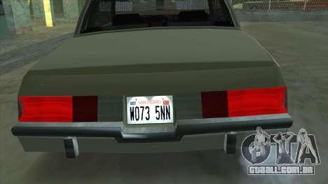 Willard Majestic para GTA San Andreas vista direita