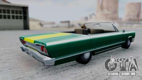 Savanna F&F4 Chevy PJ para GTA San Andreas traseira esquerda vista