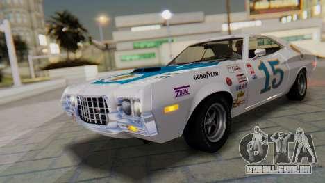 Ford Gran Torino Sport SportsRoof (63R) 1972 IVF para vista lateral GTA San Andreas