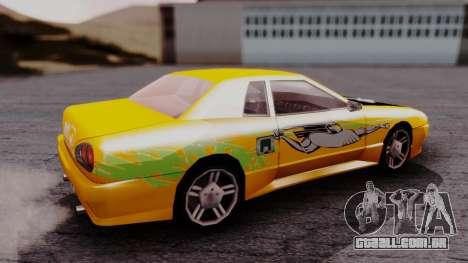 Elegy F&F Supra PJ para GTA San Andreas traseira esquerda vista