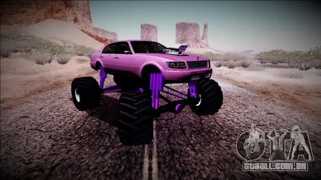 GTA 4 Washington Monster Truck para GTA San Andreas vista traseira