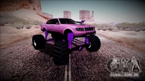 GTA 4 Washington Monster Truck para GTA San Andreas vista traseira