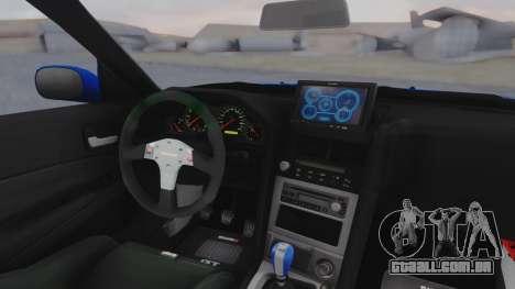 Nissan Skyline R34 Full Tuning para GTA San Andreas vista traseira