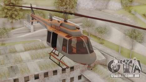 GTA 5 Buckingham Maverick para GTA San Andreas traseira esquerda vista