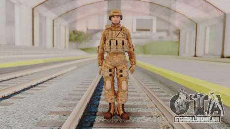 US Army Multicam Soldier from Alpha Protocol para GTA San Andreas segunda tela