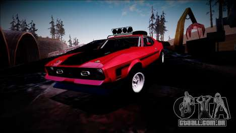 1971 Ford Mustang Rusty Rebel para GTA San Andreas vista inferior