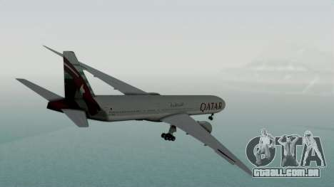 Boeing 777-9x Qatar Airways para GTA San Andreas esquerda vista