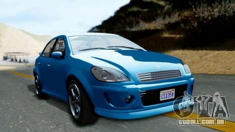 GTA 5 Declasse Premier para GTA San Andreas traseira esquerda vista