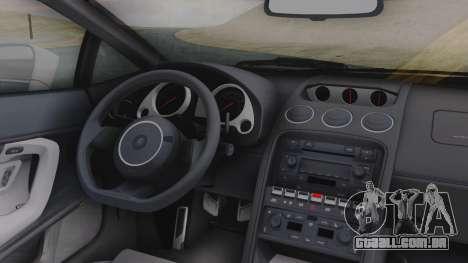 Lamborghini Gallardo 2005 LW LB Performance para GTA San Andreas vista traseira