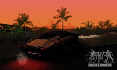 EnbUltraRealism v1.3.3 para GTA San Andreas por diante tela
