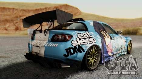 Mazda RX-8 Itasha para GTA San Andreas esquerda vista