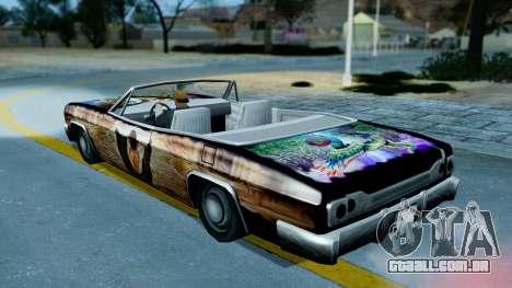 Slamvan New PJ para GTA San Andreas vista interior