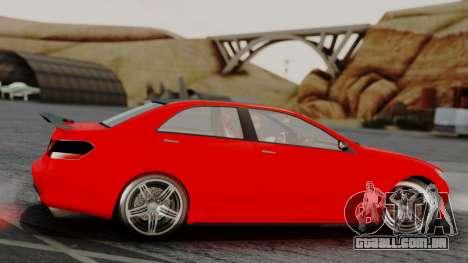 GTA 5 Benefactor Schafter V12 IVF para GTA San Andreas traseira esquerda vista