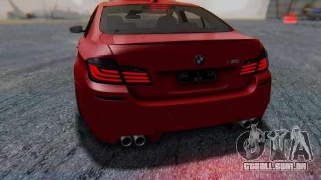 BMW M5 2012 Stance Edition para o motor de GTA San Andreas
