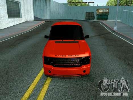 VAZ 2107 Rang Rover Edition para GTA San Andreas traseira esquerda vista