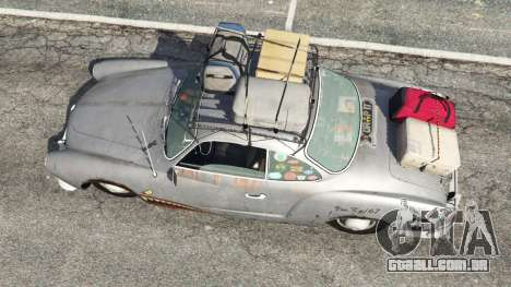 GTA 5 Volkswagen Karmann-Ghia Typ 14 1967 voltar vista