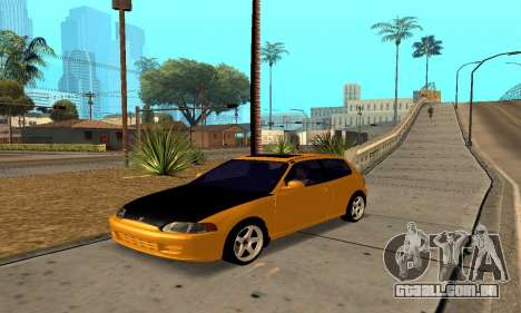 Honda Civic EG6 Tunable para vista lateral GTA San Andreas