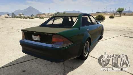 GTA 5 GTA 4 Schafter traseira vista lateral esquerda