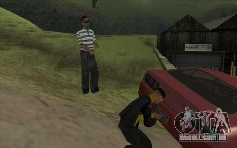 Viagem 1.0 para GTA San Andreas por diante tela