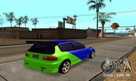 Honda Civic EG6 Tunable para GTA San Andreas vista direita