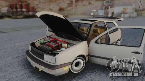 Volkswagen Golf Mk3 para GTA San Andreas vista interior