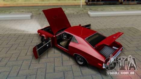 Ford Gran Torino Sport SportsRoof (63R) 1972 PJ1 para GTA San Andreas vista interior